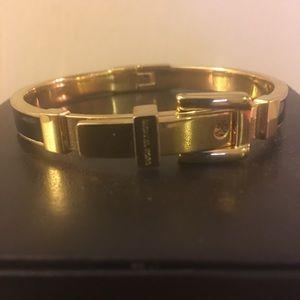 Michaels Kors Gold and Black Belt Buckle Bracelet